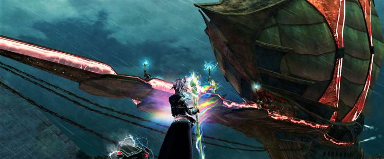 Screenshot of the Commander and Saiyda's airship