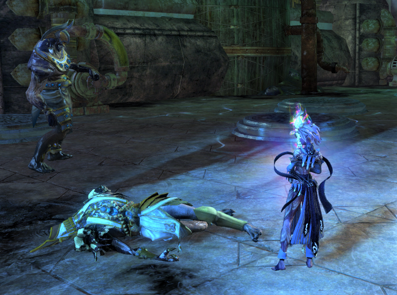 The Commander stands over the corpse of Joko