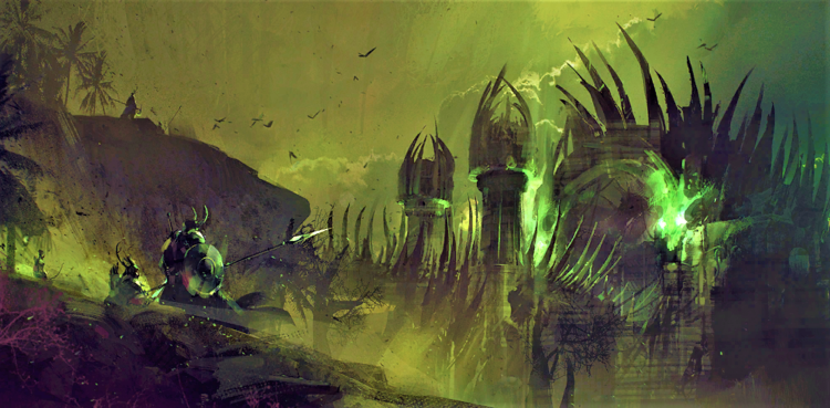 Concept art of the Moon Palace in the Domain of Kourna