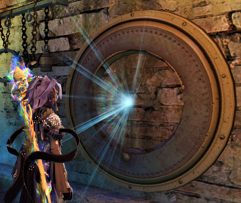 Screenshot of the Commander standing before one of Joko's illusion-obscured traps